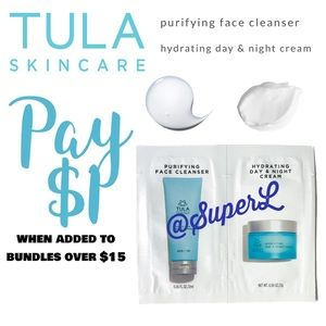 $1 Tula hydrating day night cream & face cleanser